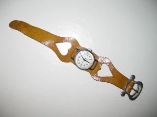 Org.  Ddr Alte Ruhla Damen Uhr Armbanduhr M.  Vintage Leder Armband Hippie 70er Bild