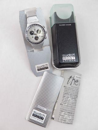Swatch Irony Chronograph Ycs4001 Mit Alu - Armband Ar Bild