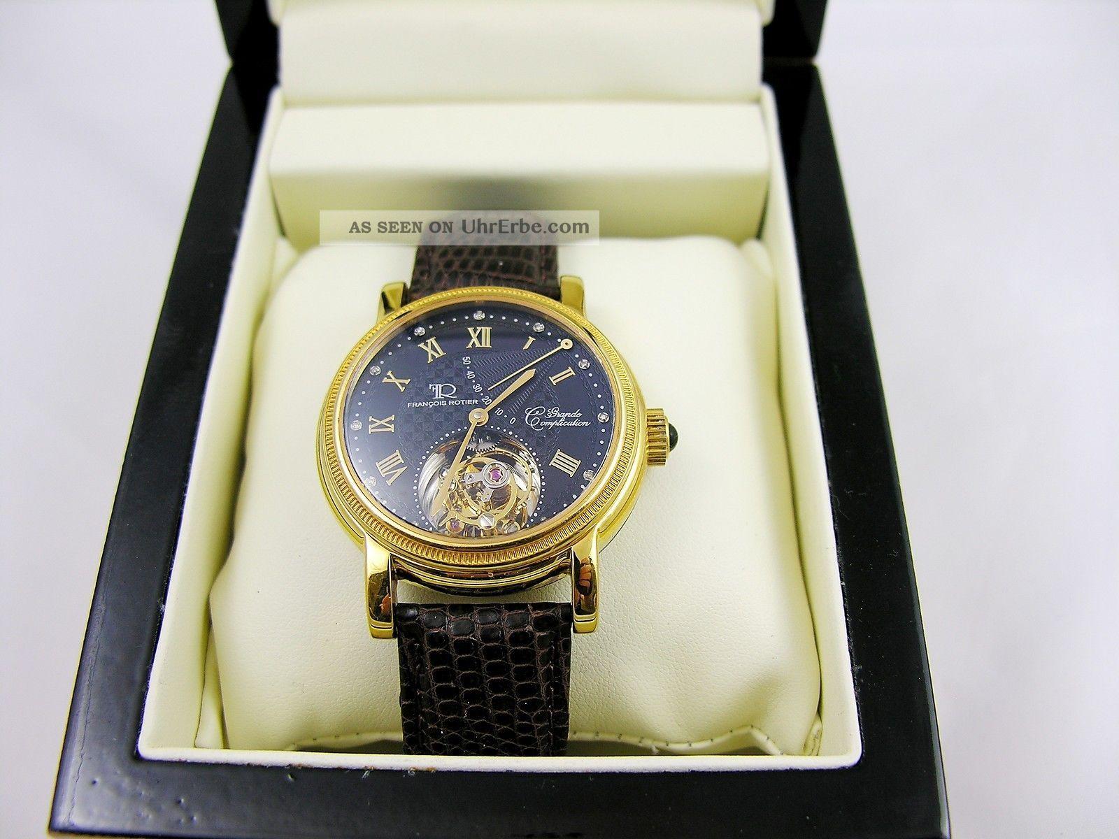 Tourbillon Regulateur Armbanduhr Herren - Luxusuhr Von Francois Rotier Armbanduhren Bild