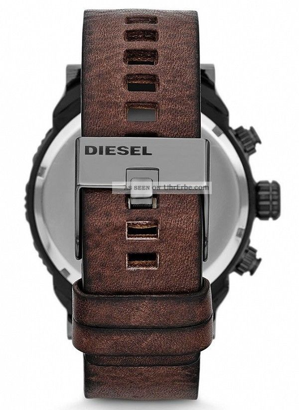 diesel herren 50mm chronograph braun leder armband. Black Bedroom Furniture Sets. Home Design Ideas