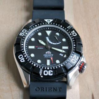 Orient M Force Saphir Diver El03004b Seiko 200m Kautschuk Uhr Air Automatik Bild