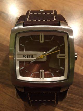 Fossil Herren - Armbanduhr Leder Braun Trend Jr9990 Bild