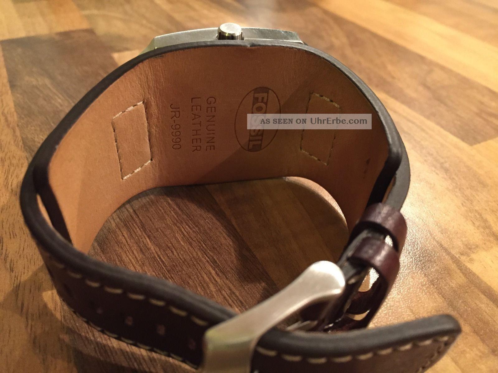 Braun Leder Fossil Herren Trend Jr9990 Armbanduhr kn0POw