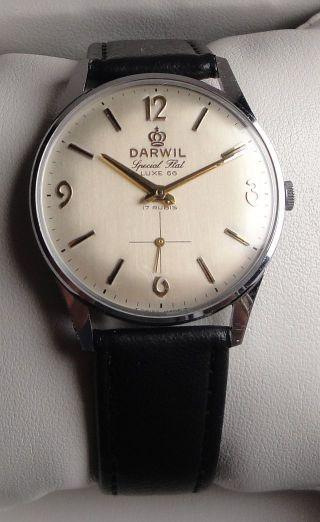 Vintage Armbanduhr Darwil Special Flat Luxe 66 - Handaufzug – Cal.  Darwil 7066 Bild