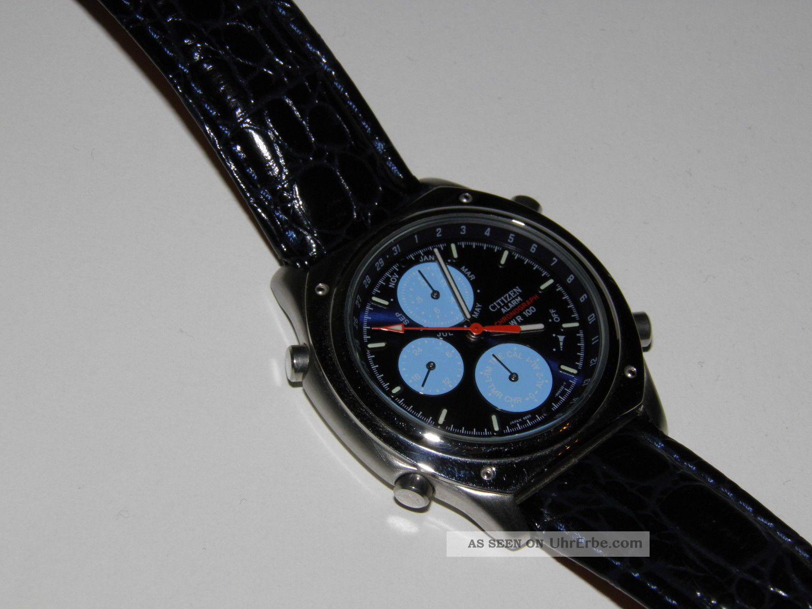 Citizen Chronograph Herrenarmbanduhr Cal.  6850 Stopuhr Alarm Kalender Neuwertig Armbanduhren Bild
