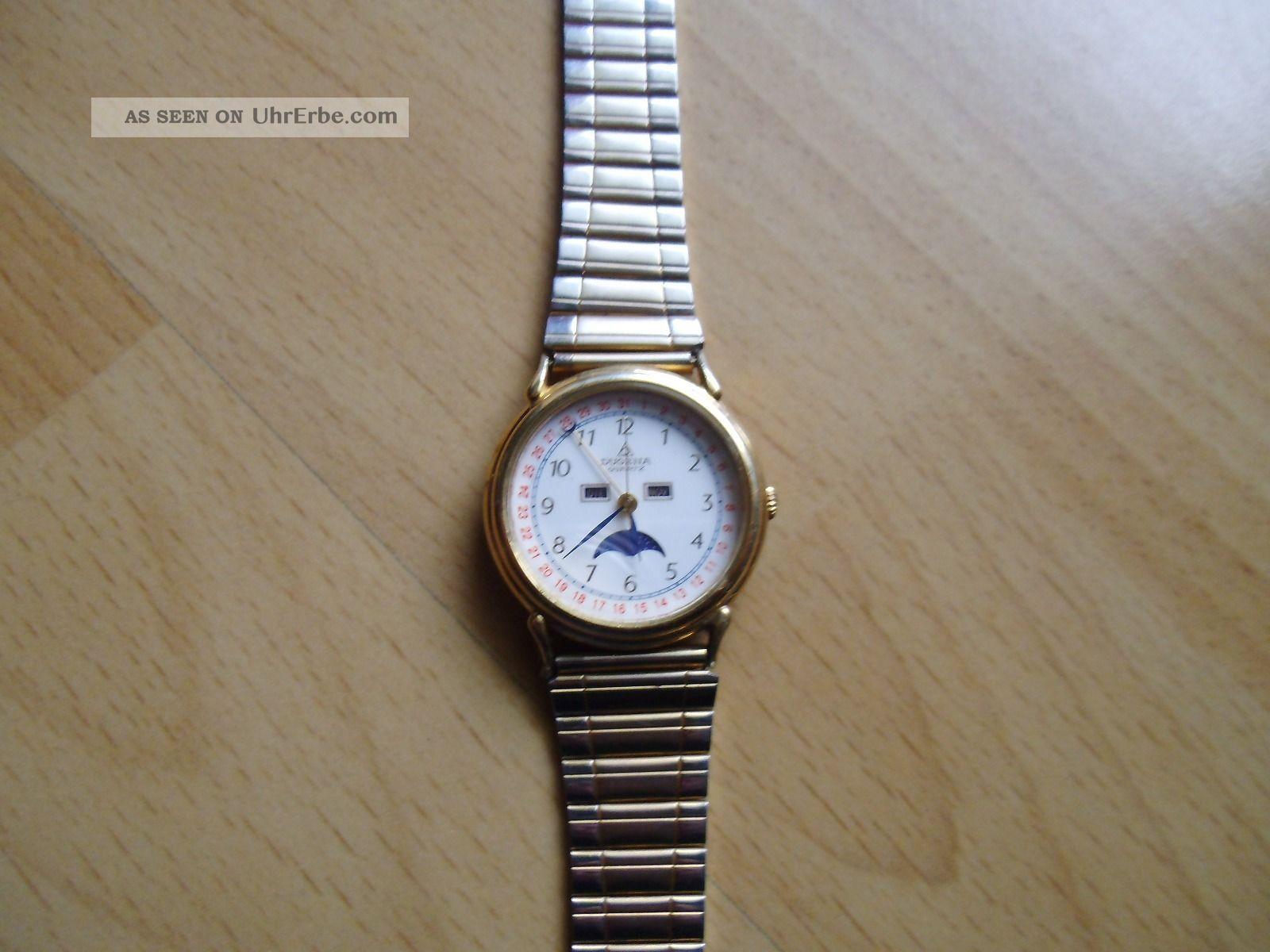 Defekte Uhr Sammlung An Bastler Alte Dugena Quartz Herren Armbanduhr Armbanduhren Bild