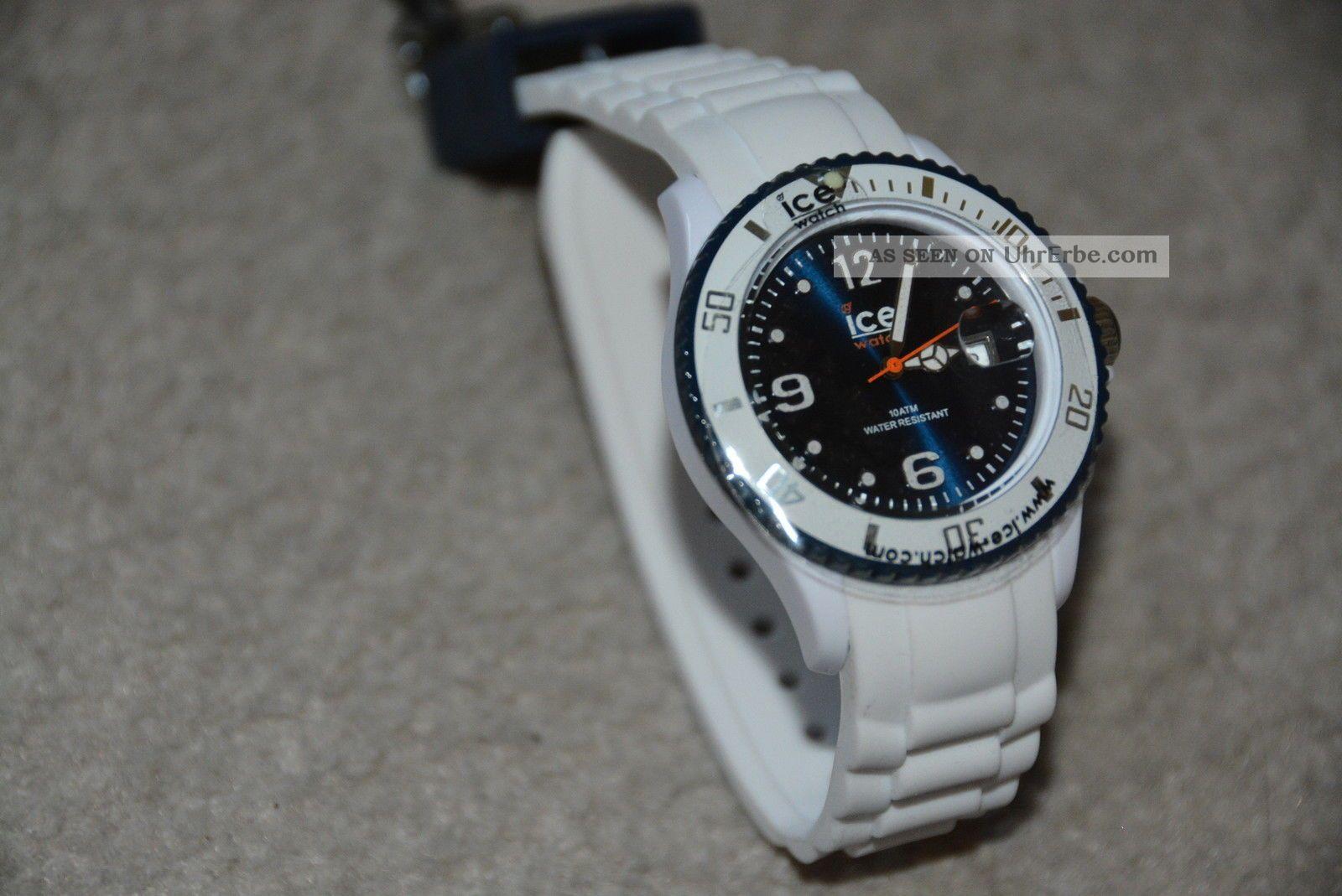 Ice Watch - Ice White White Dark Blue Unisex - Armbanduhren Bild