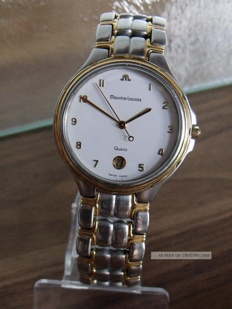 Maurice Lacroix Luxus 3 - Zeiger Herrenambanduhr Ref.  69.  515 Mit Box Armbanduhren Bild