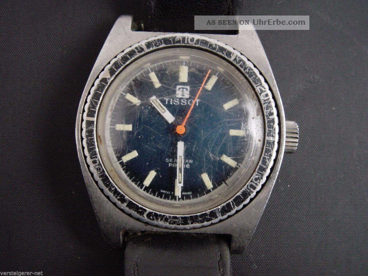 Tissot Armbanduhr Seastar Pr 516 Swiss Made,  Läuft Gut,  Jedoch Schlechte Optik. Armbanduhren Bild