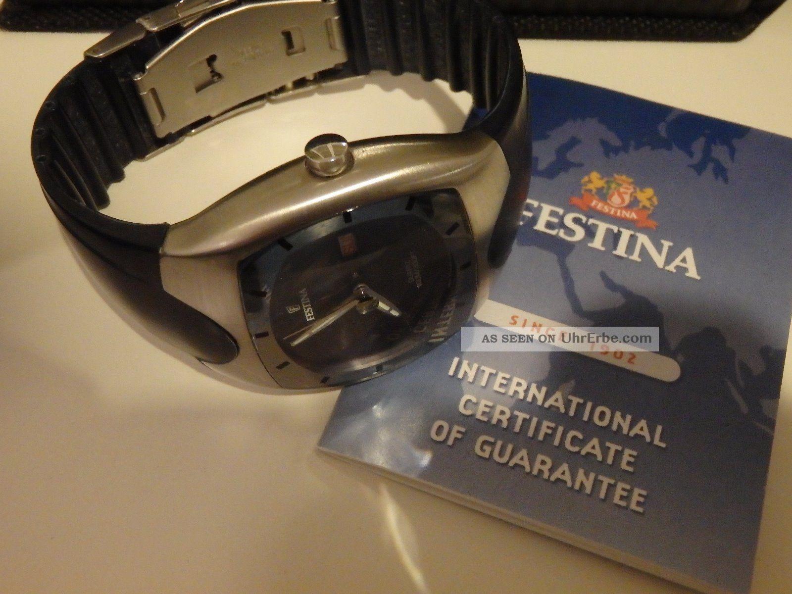Festina Professional Herrenuhr - Registered Model 16046 - Seltenes Sammlerstück Armbanduhren Bild