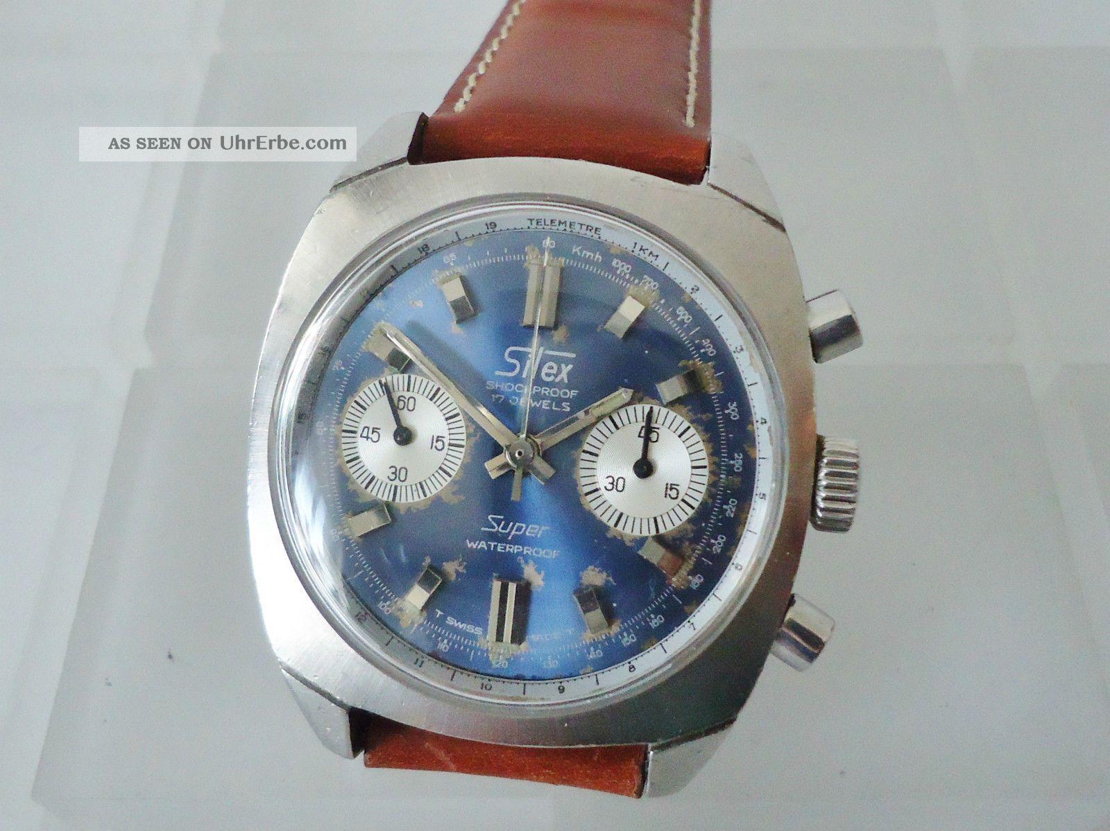Silex Chronograph Landeron 248 Telemeterskala Armbanduhren Bild