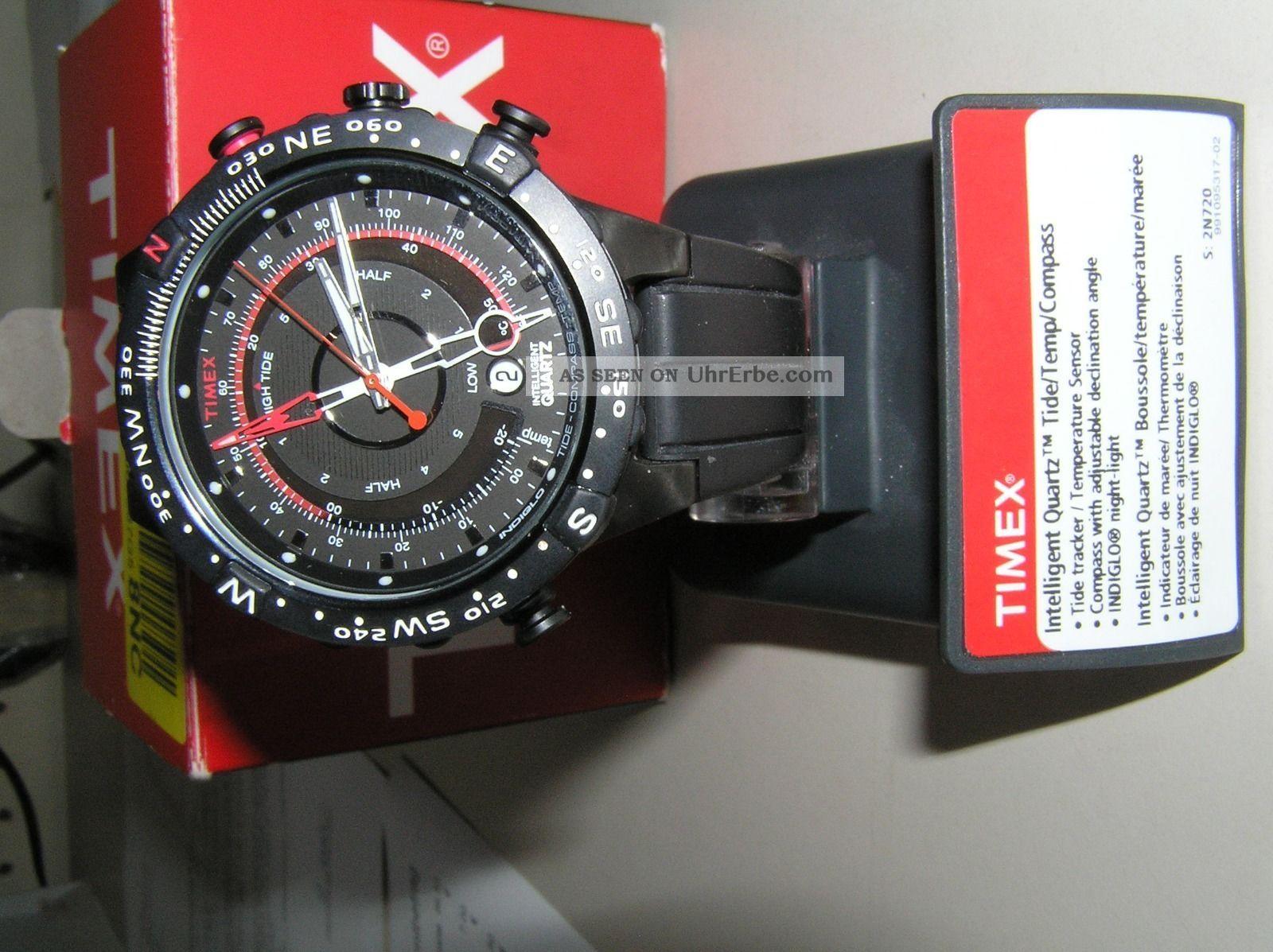Timex Herrenuhr Intelligent Quartz Tide Temp Compass 2n720 Mit Ovp Armbanduhren Bild