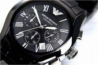 Emporio Armani Ceramica Herren Uhr Ar1400 Keramik & Ovp Mit Zertifikat Bild
