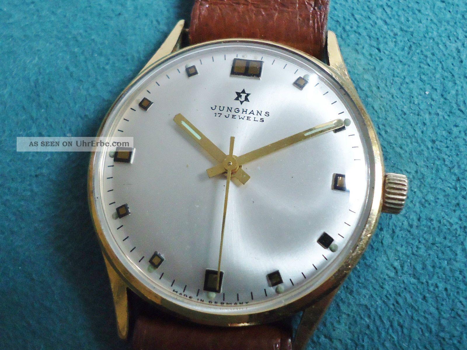Junghans Handaufzug Cal.  620.  50 Manufaktur 60er Jahre Armbanduhren Bild