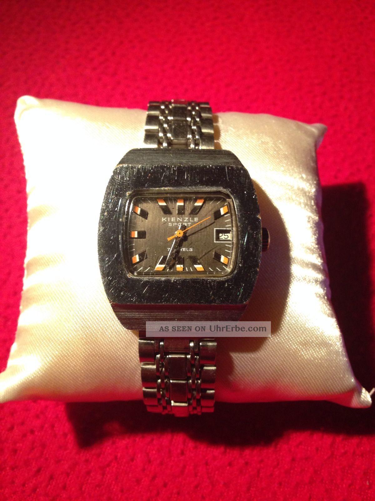 Vintage Kienzle Sport Herren Armbanduhr 70 ' Er Jahre Antike Uhr Funktionstüchtig Armbanduhren Bild