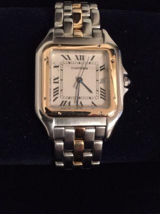 Cartier Damen - /herrenuhr Panthere18k Stahl Gold,  Großes Modell Bild