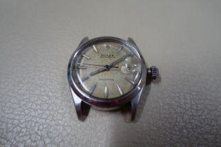 Alte Gebrauchte Defekte Rolex Oysterdate Precision Stahl Ref 6466 30mm Bild