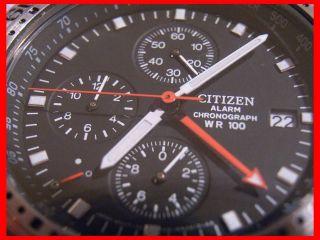 Citizen Alarm Chronograph Wr100 Tachymeter Herrenuhr Armbanduhr Tachymetre Uhren Bild