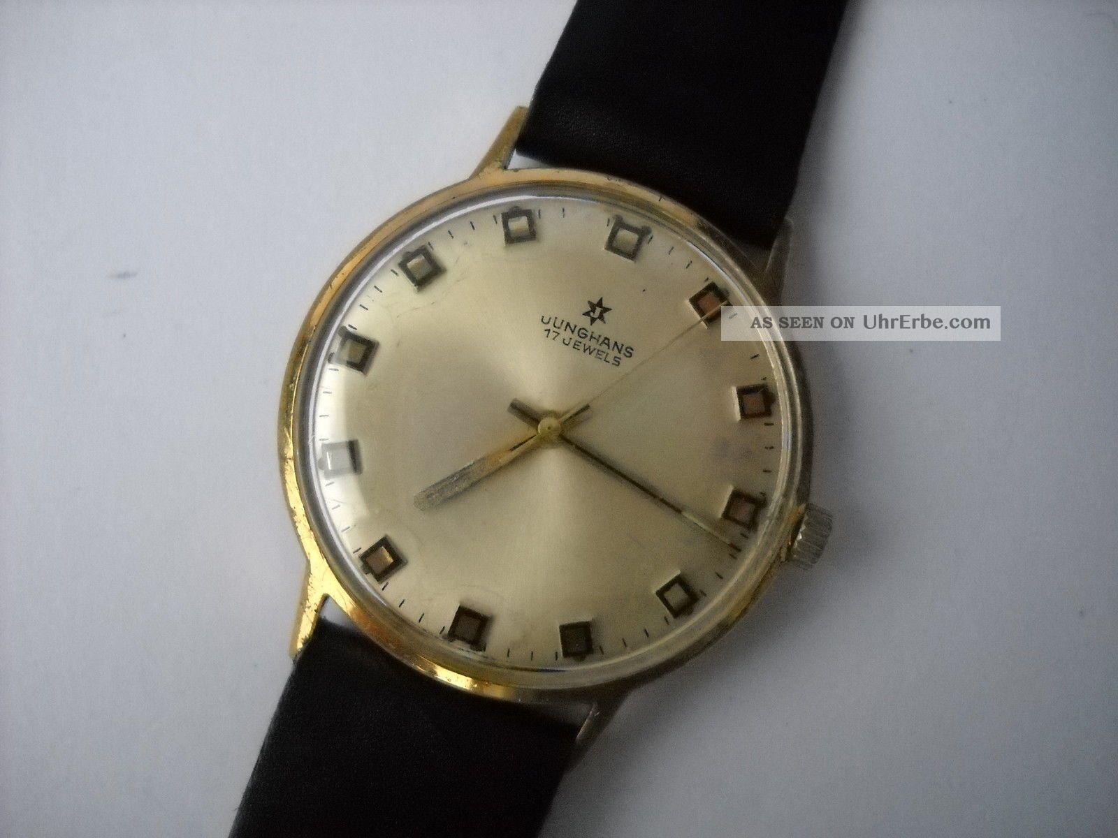 Junghans,  Herren,  Armbanduhr,  Handaufzug,  Vergoldet,  Kaliber 620.  00 Armbanduhren Bild