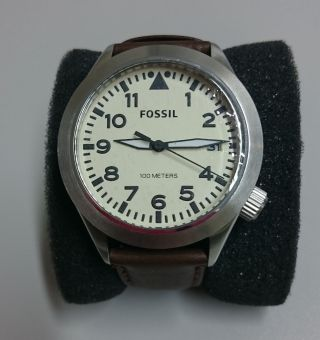 Fossil Am - 4514 Herren Uhr,  Lederarmband,  Dose Bild