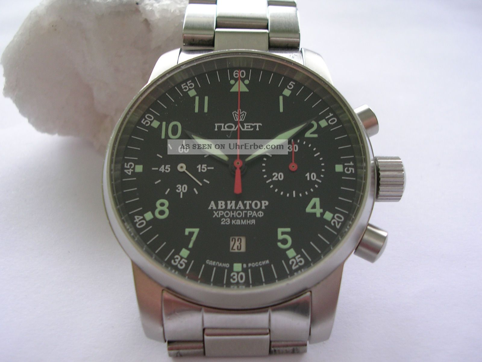 Poljot Aviator1,  Fliegeruhr Chronograph,  Mechanische Uhr,  Handaufzug Hau Armbanduhren Bild