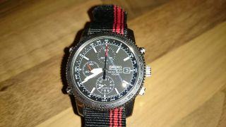 Seiko Chronograph 7t32 - 7e60 Mit Stoppfunktion Und Alarm Bild