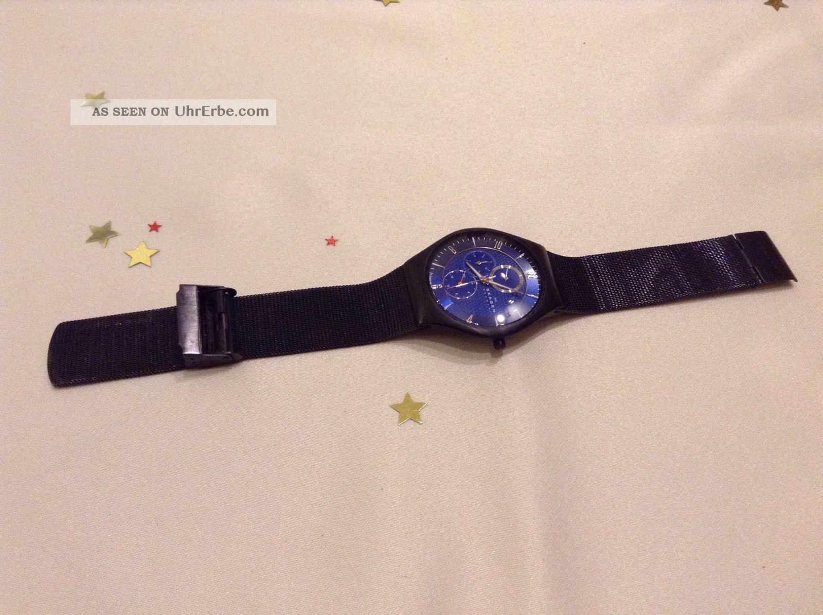 Skagen Denmark Titanium 806xltbn Herrenuhr Armbanduhr Armbanduhren Bild