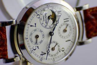 Charles Lange Geneva Uhr Mondkalender Swiss Watch Pocket Bild