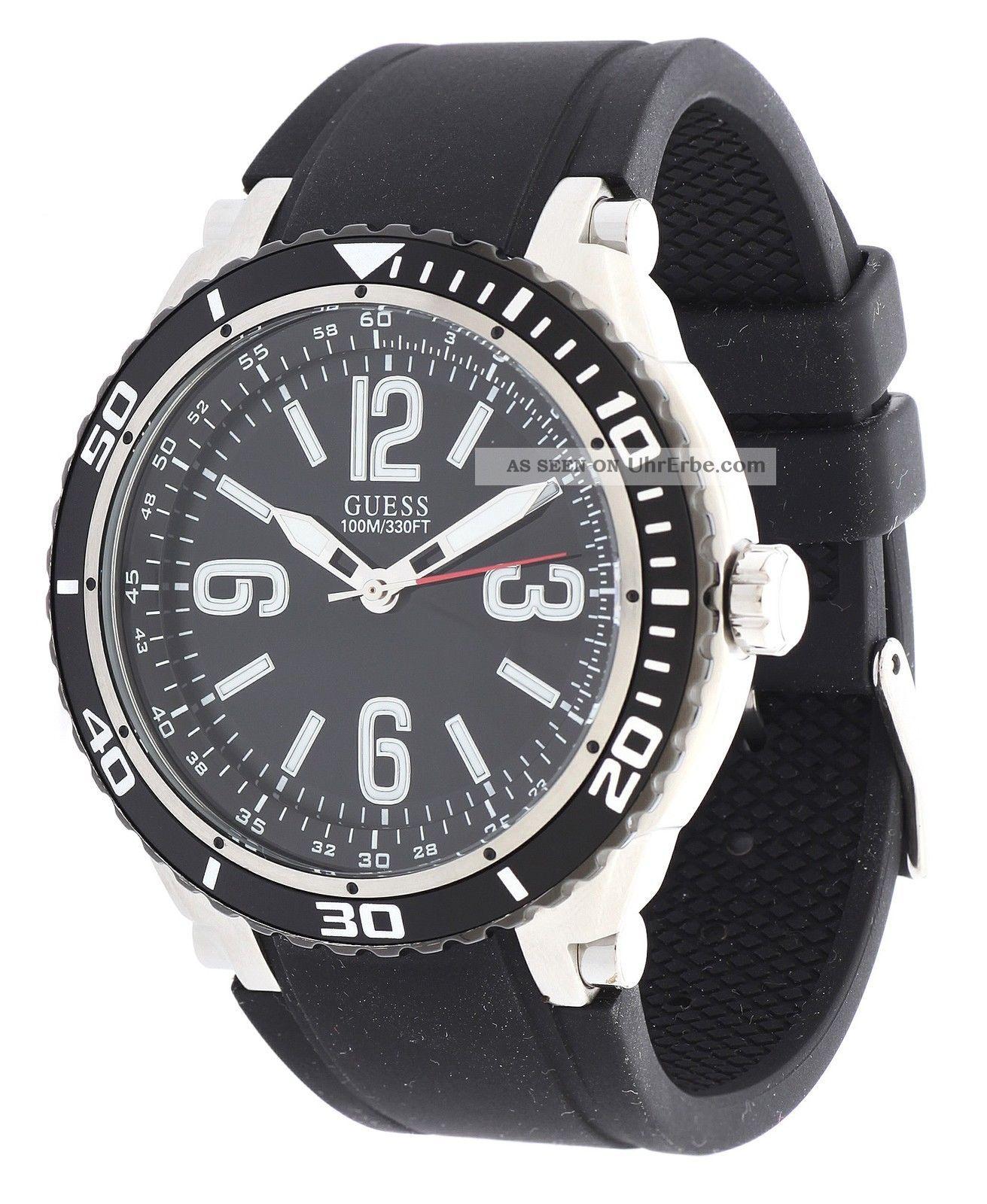 Guess Damen Armbanduhr Marathon Schwarz W0044g1 Armbanduhren Bild