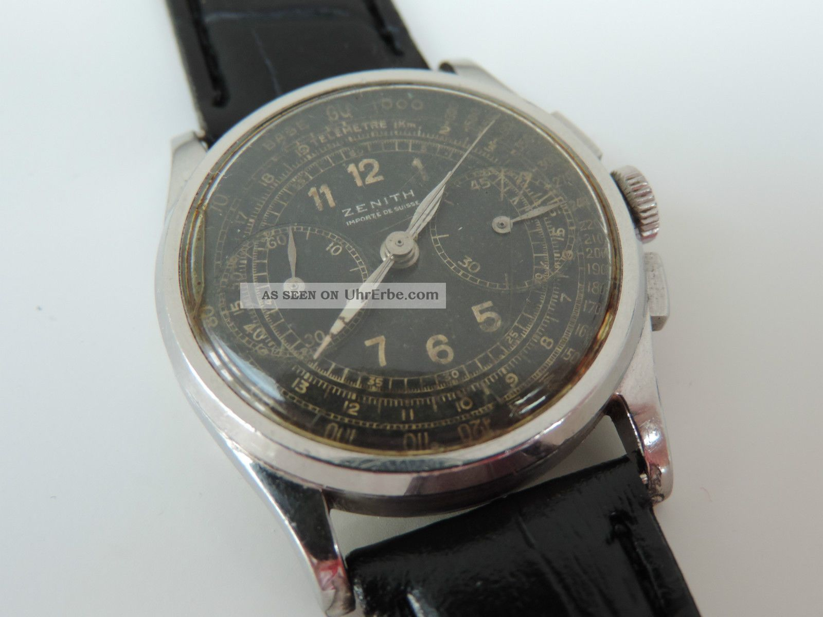 Zenith Vintage Military Chronograph - Kaliber 136 - Wk2 - Oder Wk1 - Extrem Rar Armbanduhren Bild