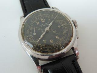 Zenith Vintage Military Chronograph - Kaliber 136 - Wk2 - Oder Wk1 - Extrem Rar Bild