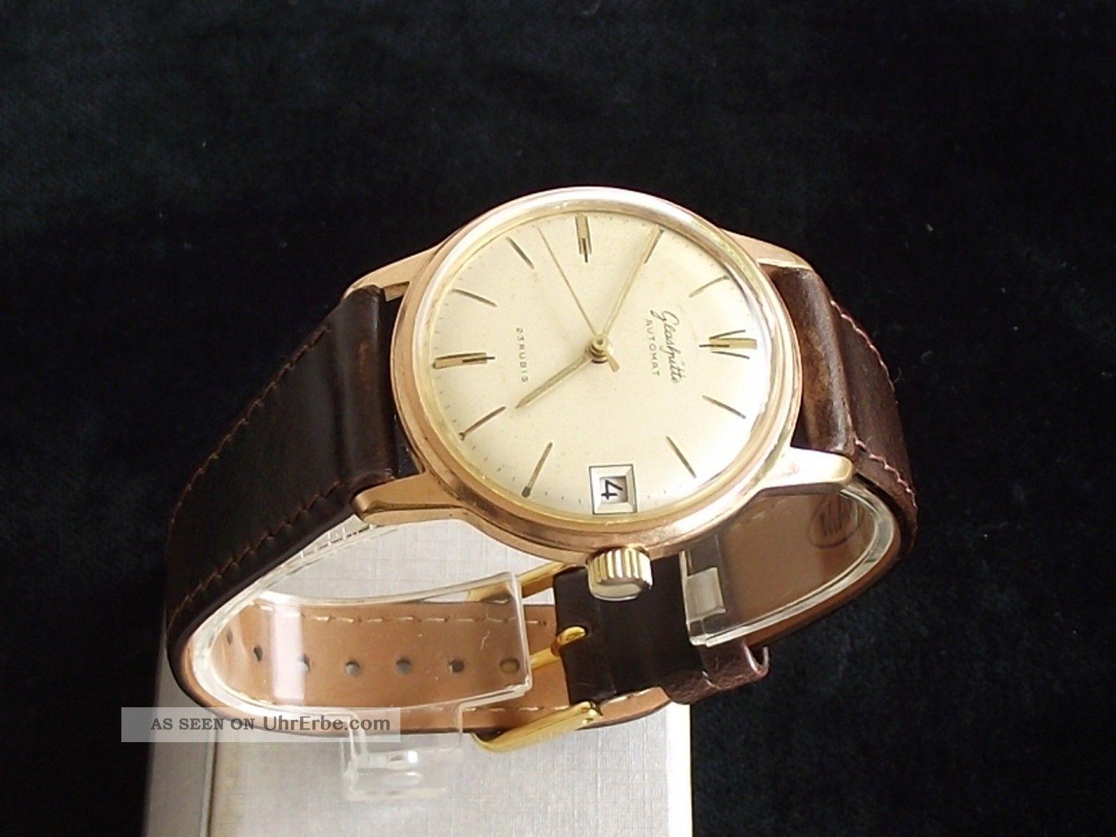 Tolle Klassische Glashütte Gub Automat Kal.  67.  1 Herrenuhr,  Rares Zifferblatt Armbanduhren Bild
