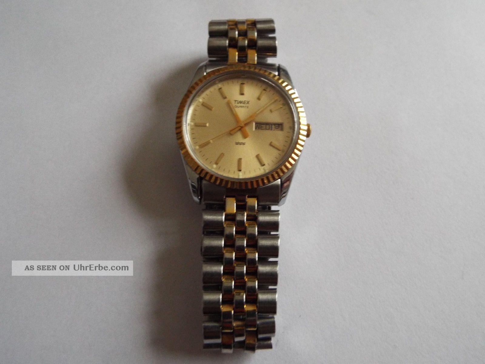 Armbanduhr Timex Quartz 395 La Cell Armbanduhren Bild