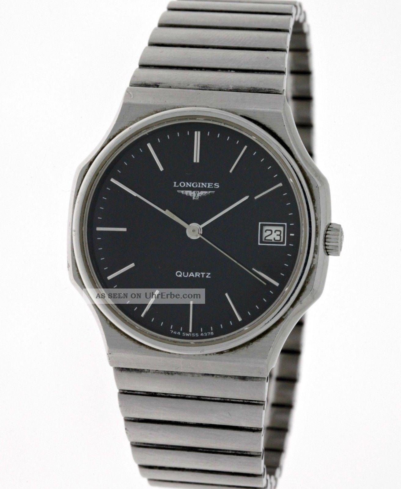 Seltene Vintage Longines Unisex Edelstahl Armbanduhr Ref.  4378 Kaliber L.  744.  2 Armbanduhren Bild