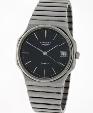 Seltene Vintage Longines Unisex Edelstahl Armbanduhr Ref.  4378 Kaliber L.  744.  2 Bild