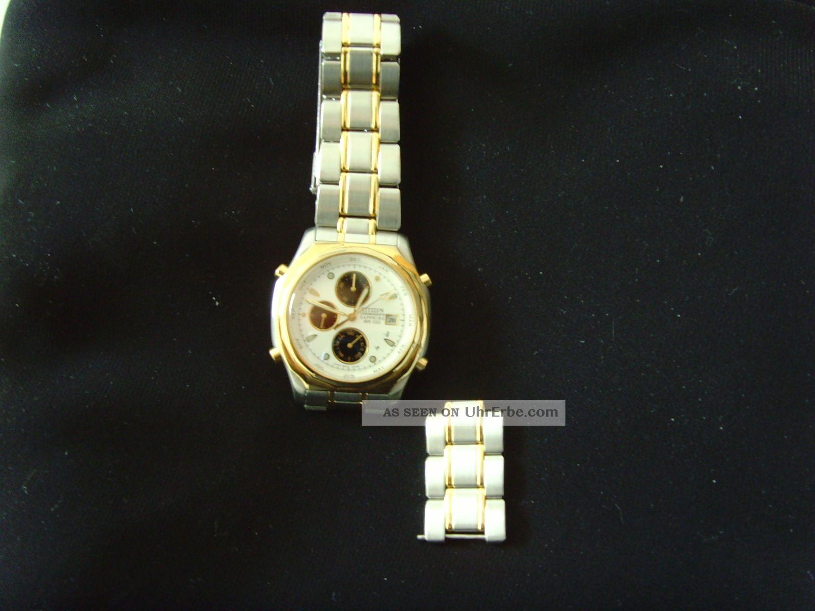 Citizen Chronograph Sapphire Wr100 Armbanduhren Bild