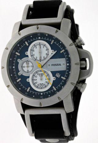 Fossil Trend Jr - 1156 Herren 3 Register Chronograph Mit Datum Edelstahl Blue Dial Bild
