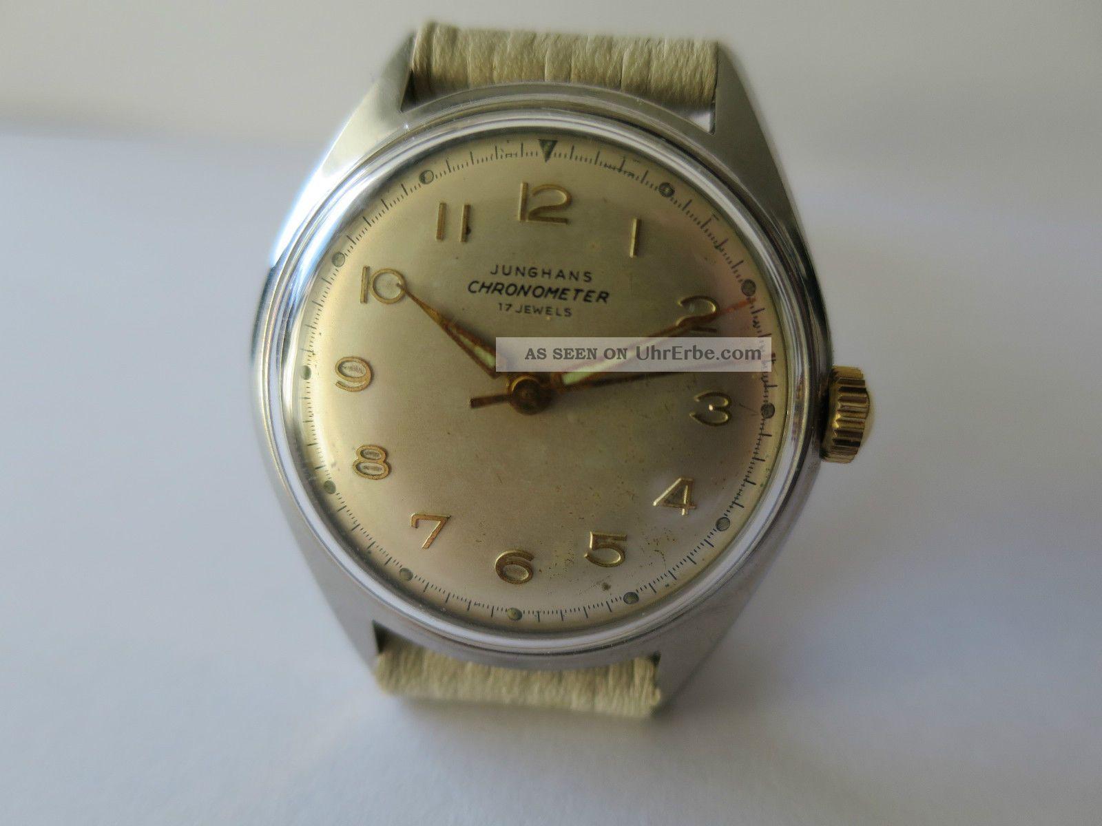 Junghans Chronometer Handaufzug Kaliber 82/1 Armbanduhren Bild