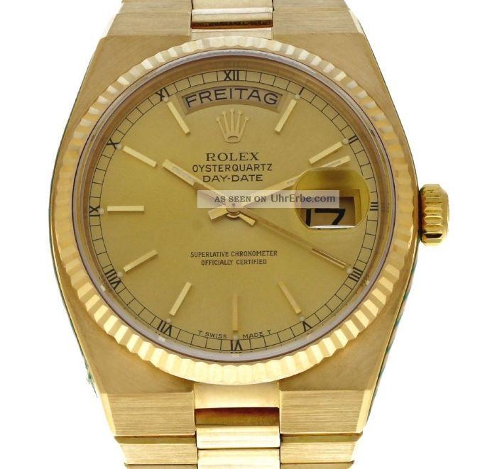 Orginal Rolex Oyster Q Day Date 750 Er Gg Mit Präsidenten Band Armbanduhren Bild