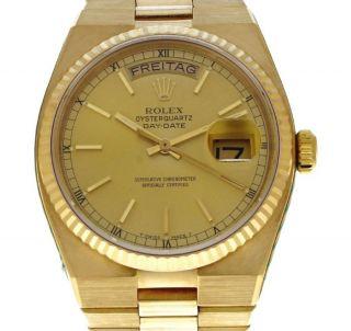 Orginal Rolex Oyster Q Day Date 750 Er Gg Mit Präsidenten Band Bild