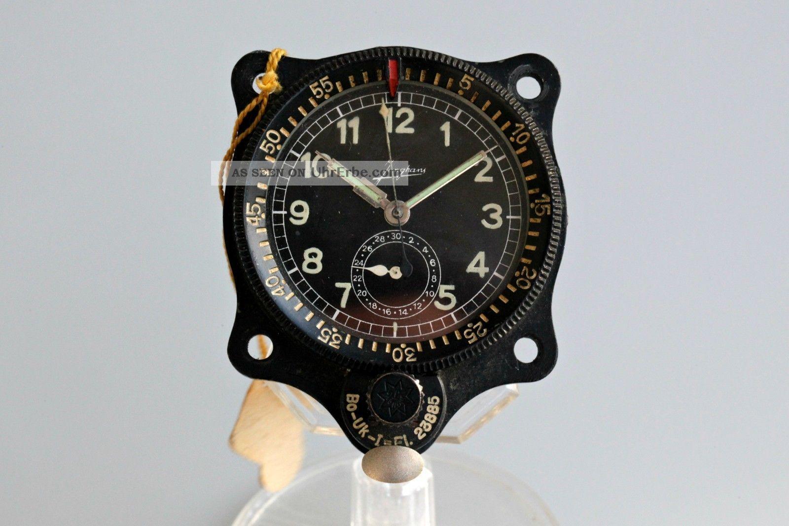 Junghans Deutsche Luftwaffenuhr Bo - Uk1 Borduhr/blindfluguhr Fl23885 - 2.  Wk. Armbanduhren Bild