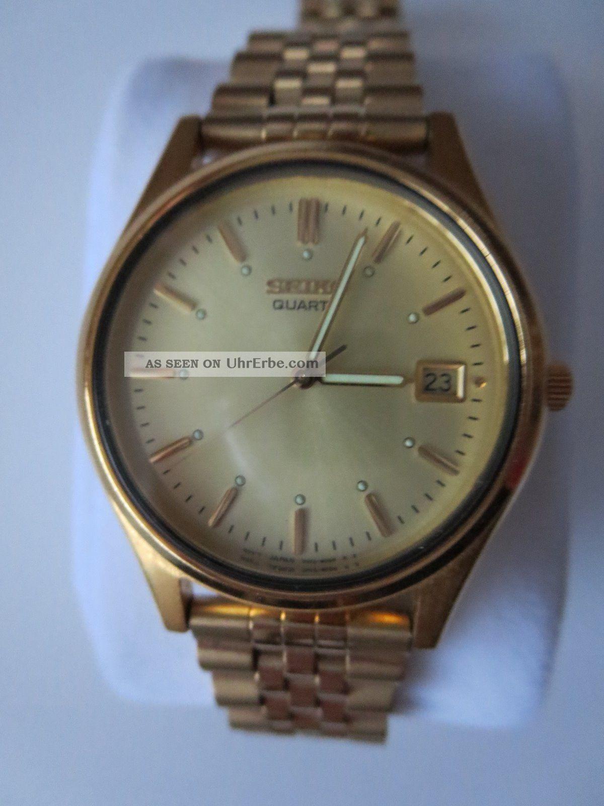 Seiko Quartz - Uhr Mit Datumsanzeige Armbanduhren Bild