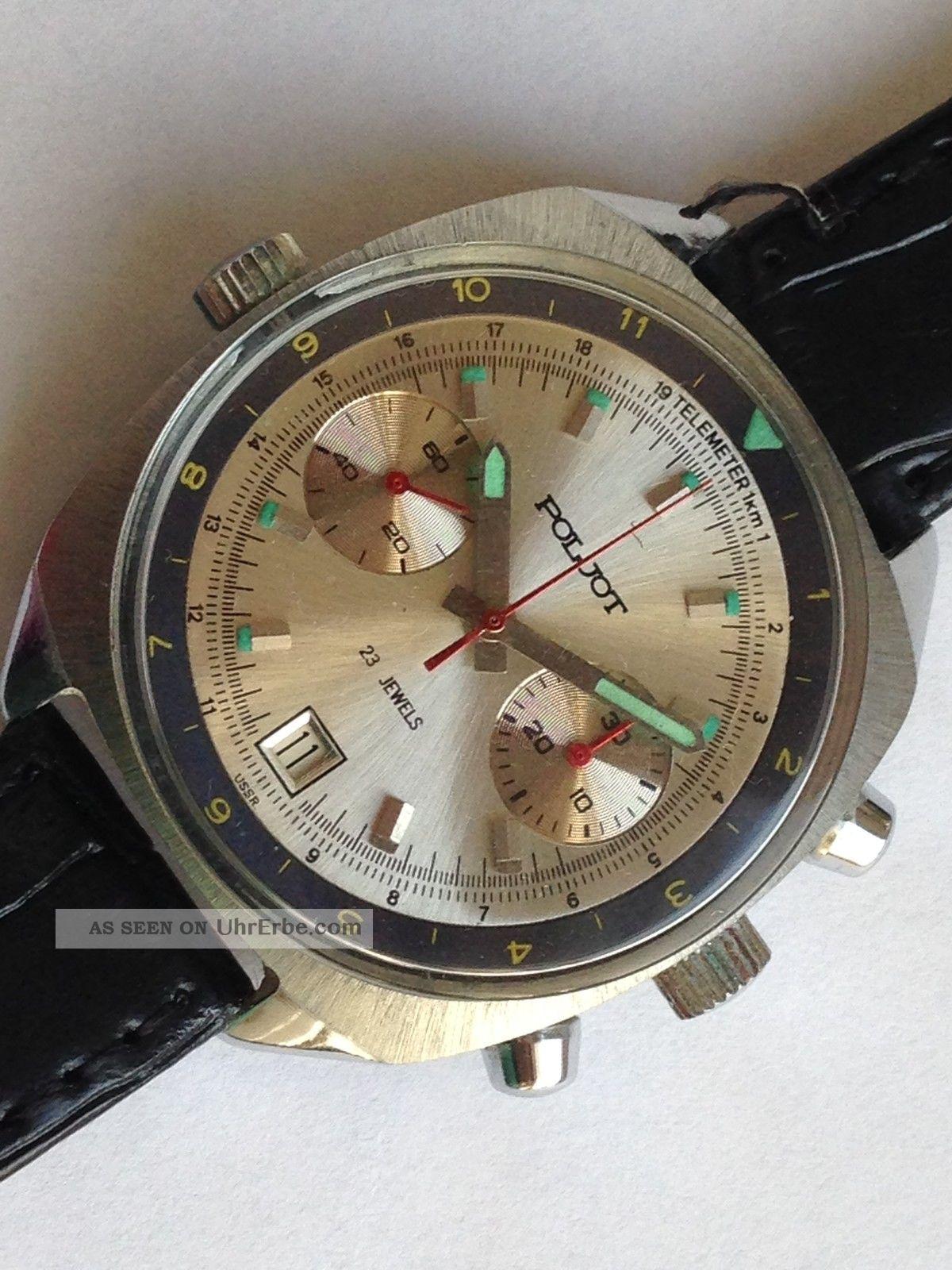 Poljot Sturmanskie Herrenuhr Chronograph - Handaufzug Russian Armbanduhren Bild