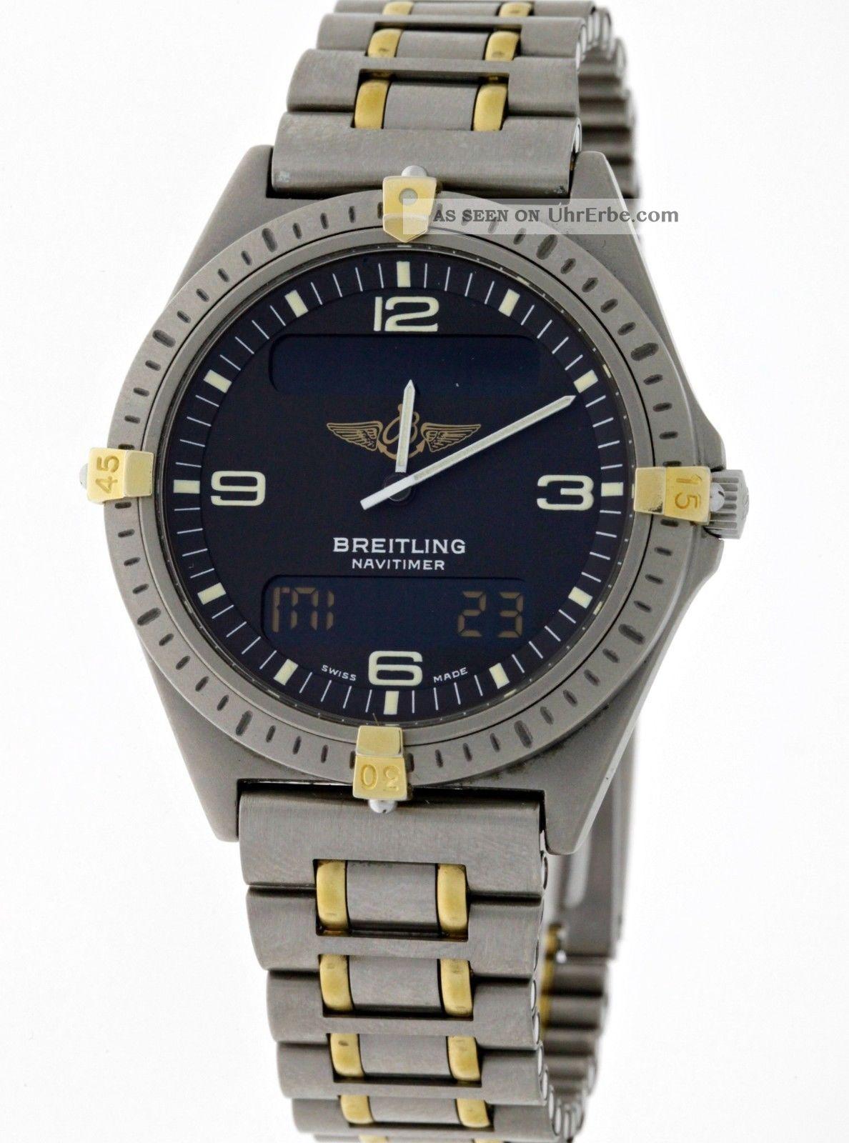Breitling Navitimer Aerospace Ref.  F56059 Professional Titan/gold - Box&papiere Armbanduhren Bild