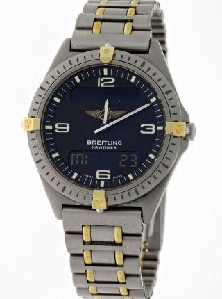 Breitling Navitimer Aerospace Ref.  F56059 Professional Titan/gold - Box&papiere Bild