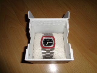 Diesel Herren Analog Armbanduhr Uhr Edelstahl Silber Schwarz Rot Mit Ovp Bild