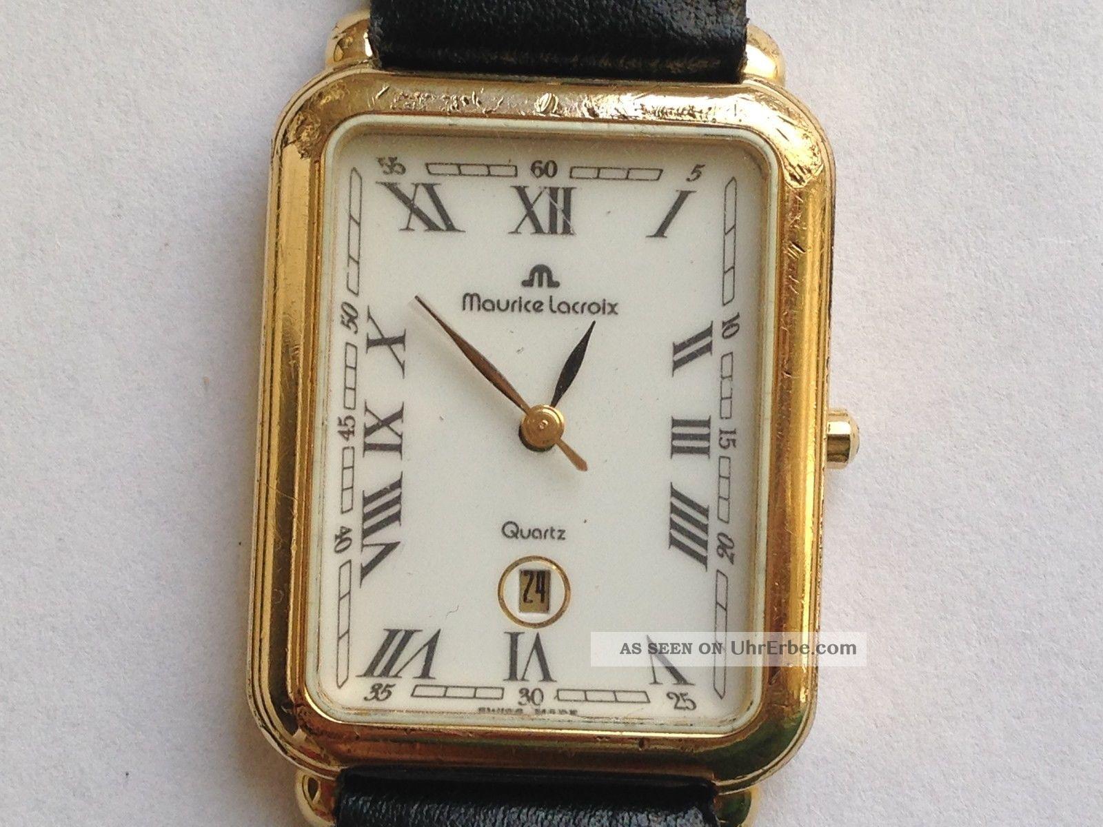 Schöne Orig.  Maurice Lacroix Quartz Uhr Armbanduhr. Armbanduhren Bild