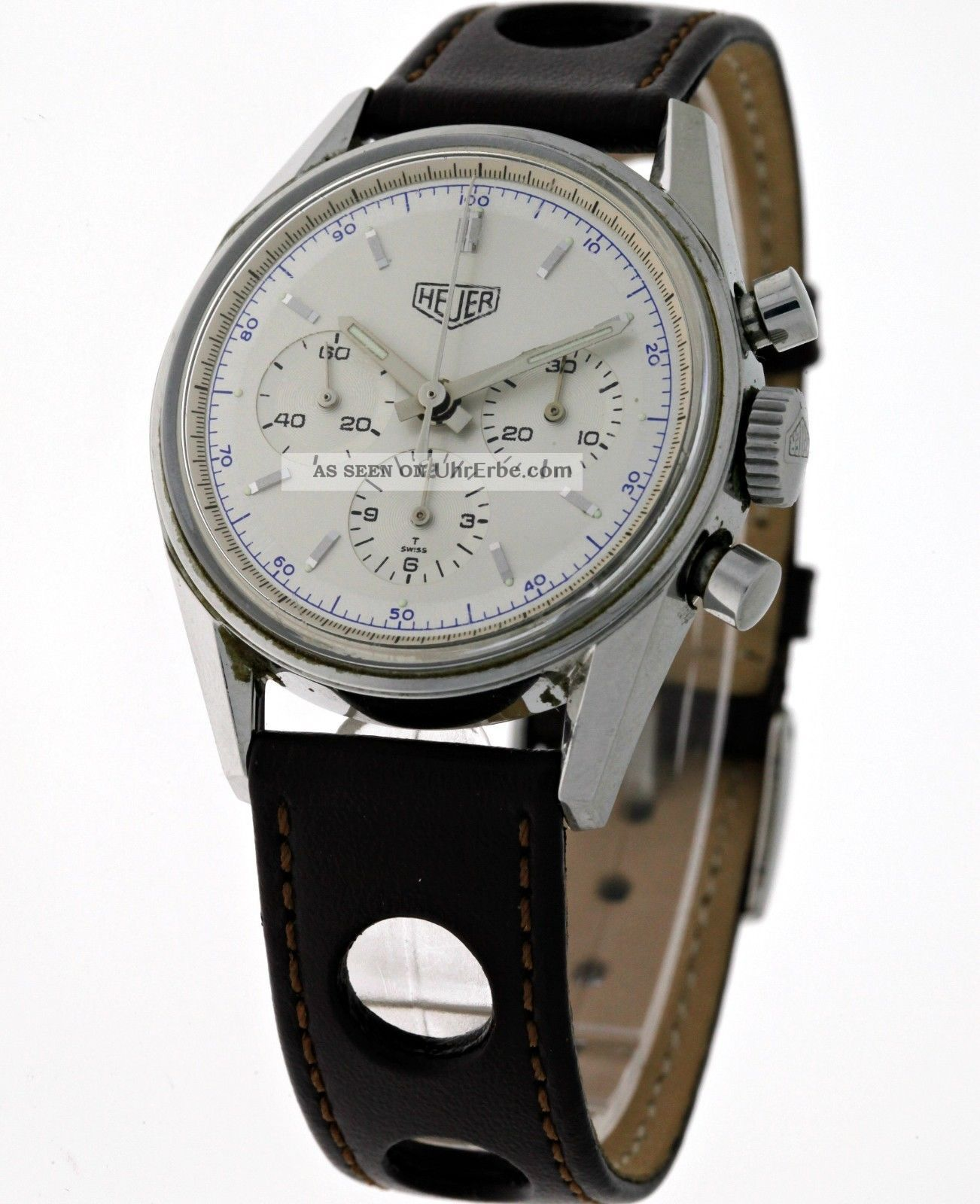 1964 Heuer Carrera Re - Edition Chronograph Cs3110 Lemania 1873 - Box&papiere Armbanduhren Bild