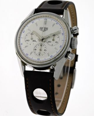 1964 Heuer Carrera Re - Edition Chronograph Cs3110 Lemania 1873 - Box&papiere Bild