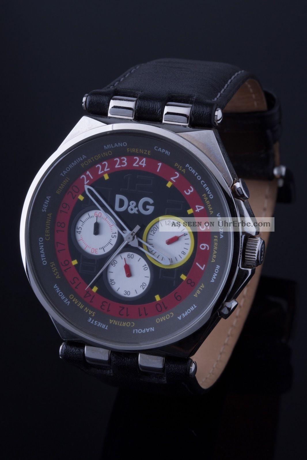 D&g - Dolce Gabbana Quarz Uhr/chronograph/herrenuhr/armbanduhr Armbanduhren Bild